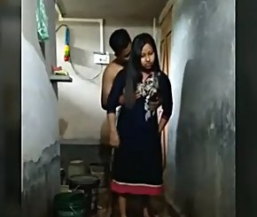 Indian Home Sex With Young Bengali Couple In Bathroom